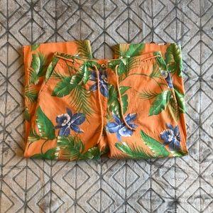 LAUREN Ralph Lauren cropped pants floral size 6P